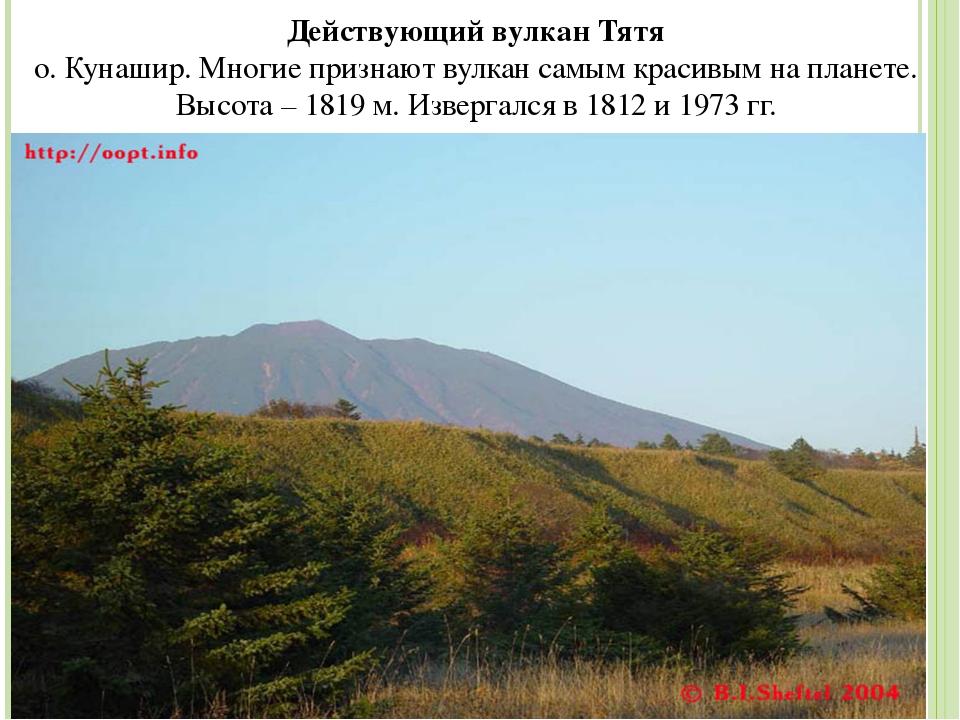 Действующий вулкан Тятя о. Кунашир. Многие признают вулкан самым красивым на...