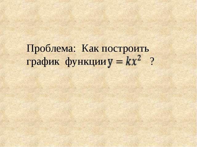 Проблема: Как построить график функции ?