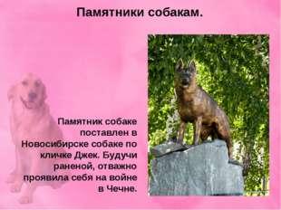 Памятники собакам. Памятник собаке поставлен в Новосибирске собаке по кличке