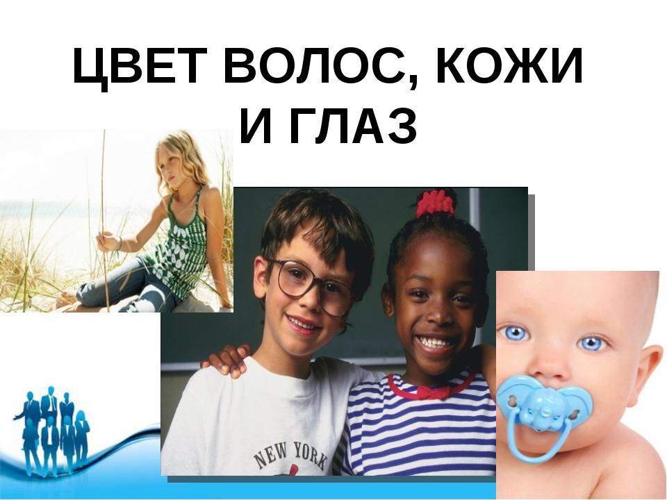 ЦВЕТ ВОЛОС, КОЖИ И ГЛАЗ Free Powerpoint Templates Page *