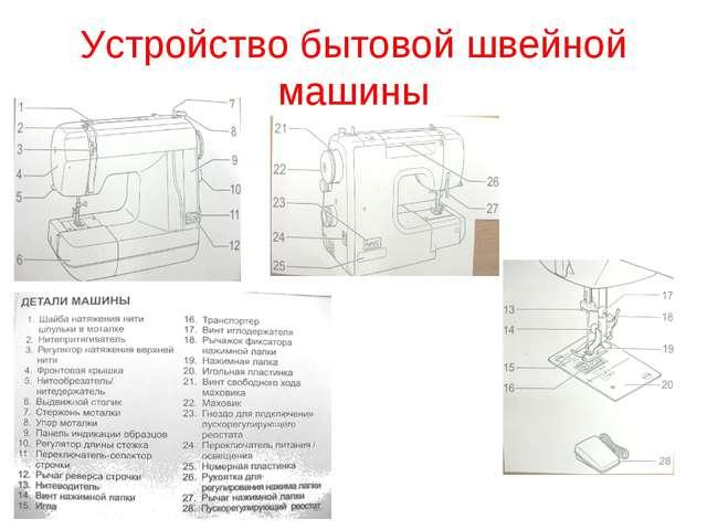 * Устройство бытовой швейной машины