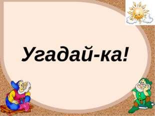 Угадай-ка! FokinaLida.75@mail.ru