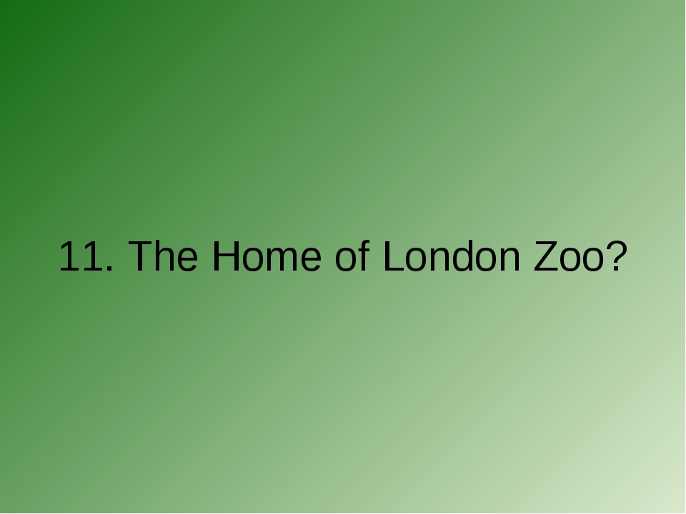 11. The Home of London Zoo?