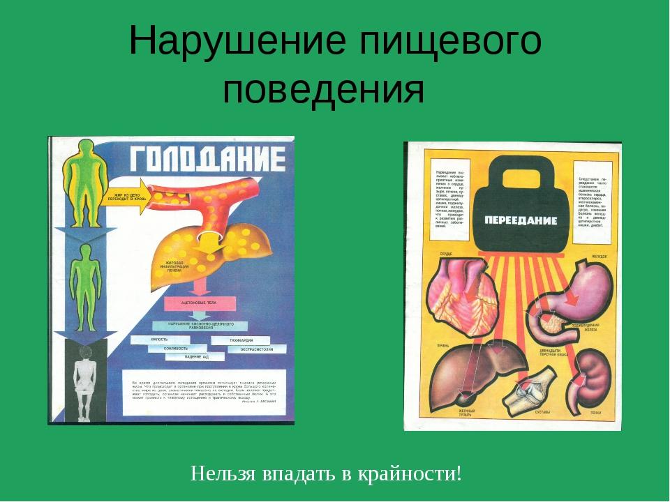 Нарушение пищевого поведения Нельзя впадать в крайности!