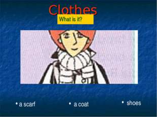 Clothes What is it? a scarf a coat shoes