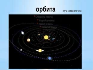 орбита Путь небесного тела