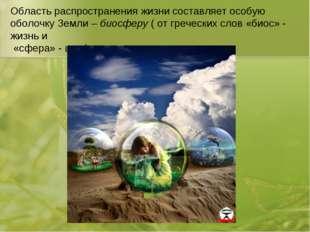 Область распространения жизни составляет особую оболочку Земли – биосферу ( о