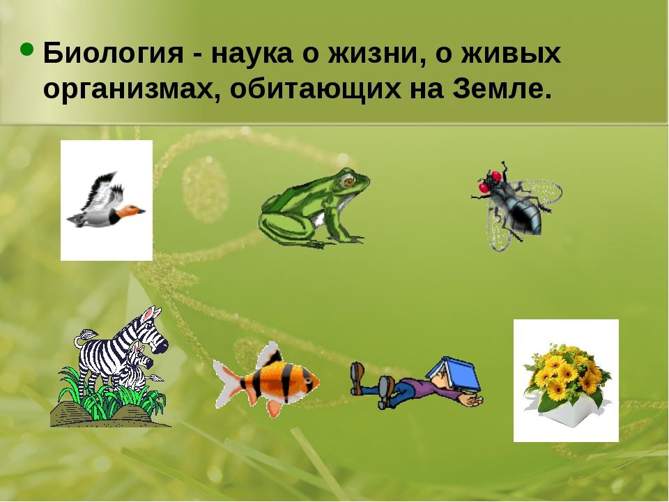 Биология - наука о жизни, о живых организмах, обитающих на Земле.