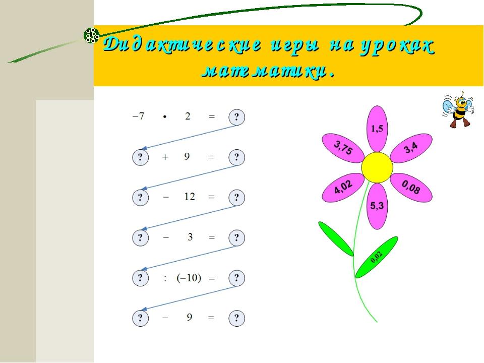 Дидактические игры на уроках математики.
