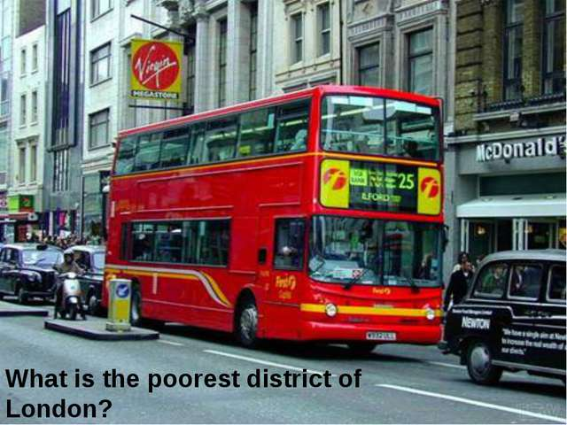 What is the poorest district of London?