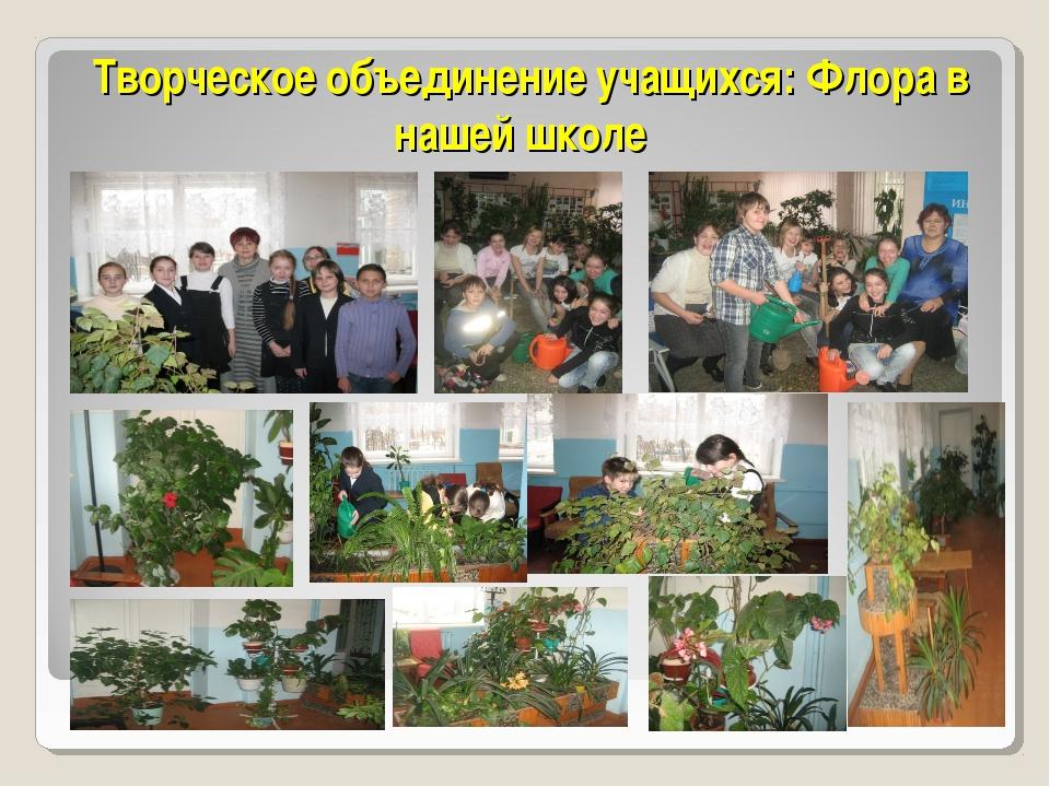 Творческое объединение учащихся: Флора в нашей школе