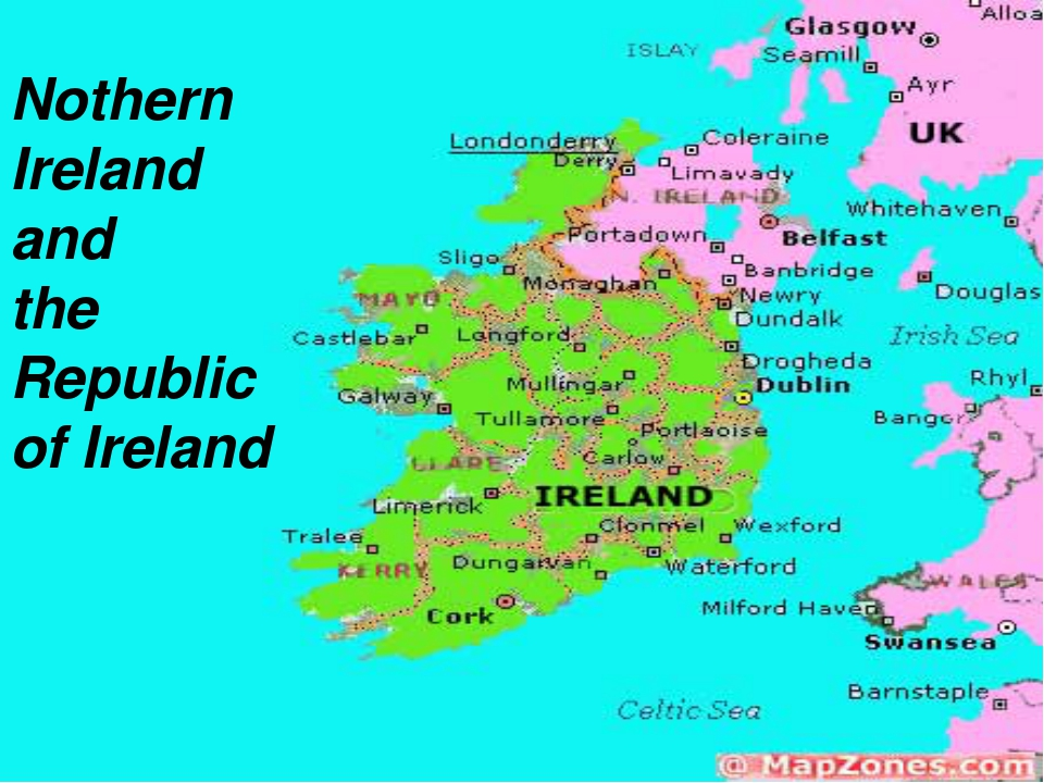 Nothern Ireland and the Republic of Ireland