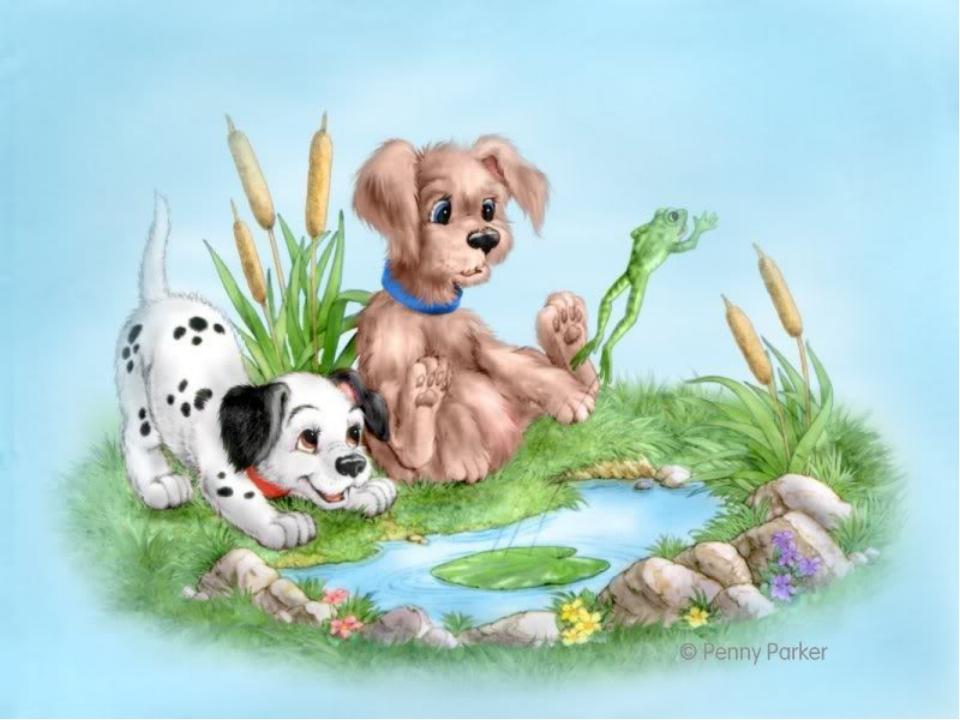 Картинки собаки сказочные