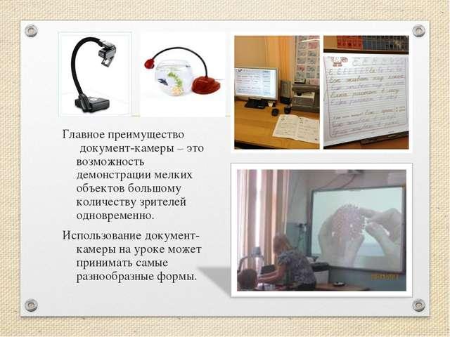Главное преимущество документ-камеры – это возможность демонстрации мелких о...