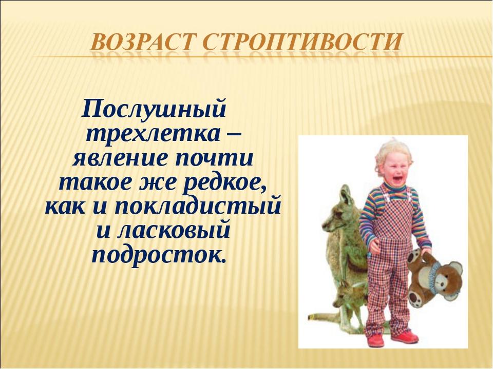Послушный трехлетка – явление почти такое же редкое, как и покладистый и ласк...