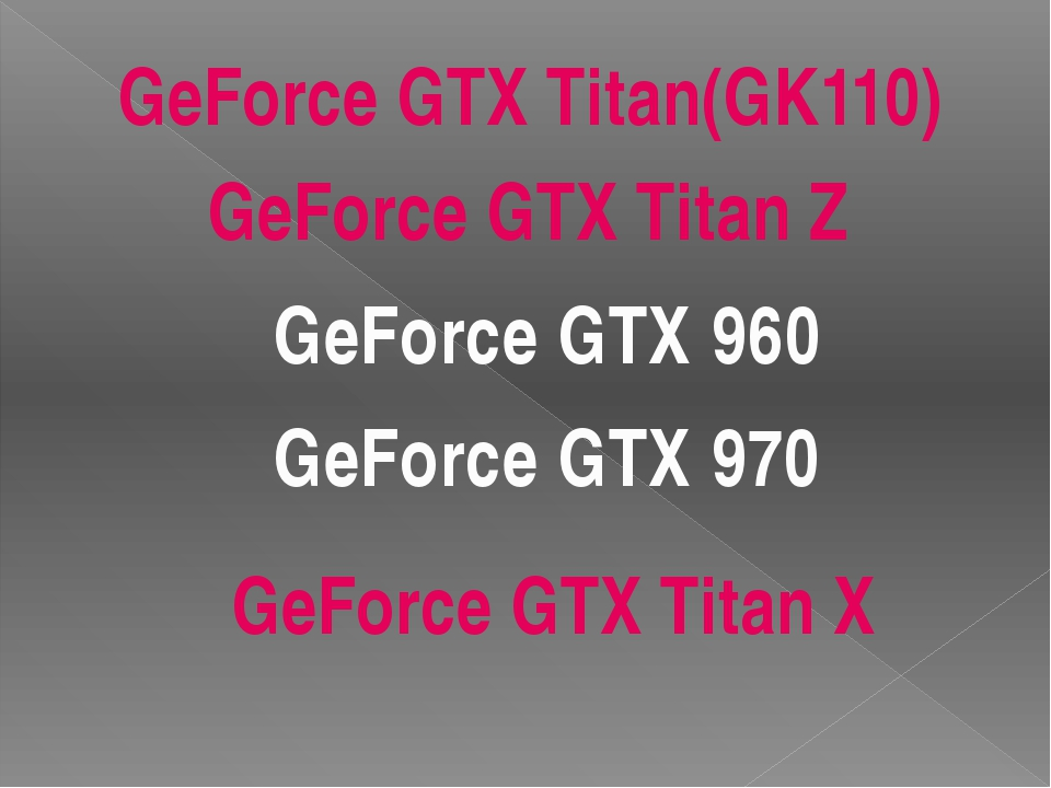 GeForce GTX 960 Интерфейс -PCI-E 16x 3.0 Кодовое название графического проце...