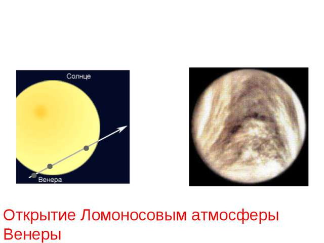 Открытие Ломоносовым атмосферы Венеры