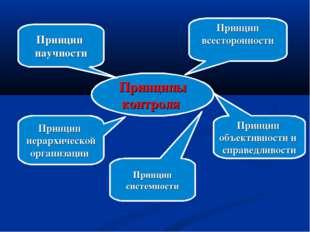 Принципы контроля Принцип научности Принцип иерархической организации Принцип