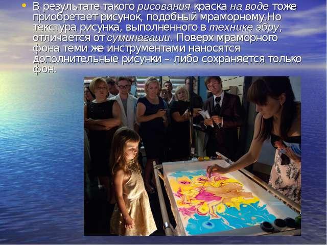 В результате такогорисованиякраскана водетоже приобретает рисунок, подобн...