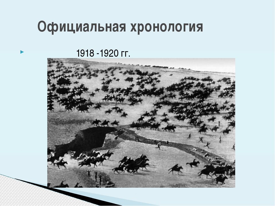 1918 -1920 гг. Официальная хронология