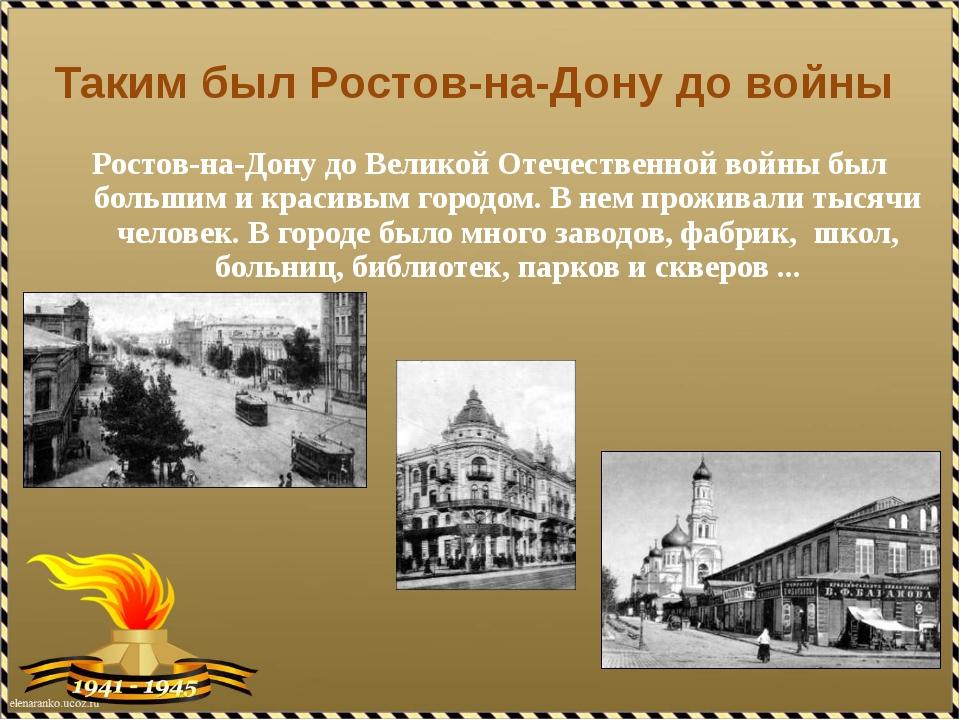 Таким был Ростов-на-Дону до войны Ростов-на-Дону до Великой Отечественной вой...