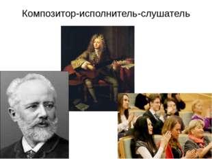 Композитор-исполнитель-слушатель