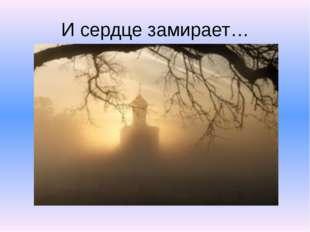 И сердце замирает…