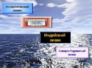 Атлантический океан Воздушный океан Индийский океан Северо-Ледовитый океан