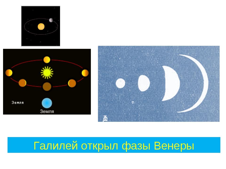 Галилей открыл фазы Венеры