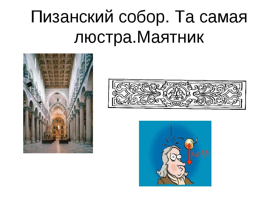 Пизанский собор. Та самая люстра.Mаятник