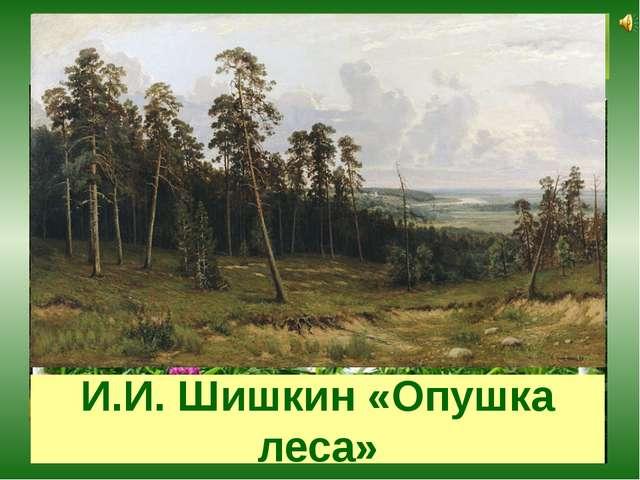 На лесной опушке И.И. Шишкин «Опушка леса»
