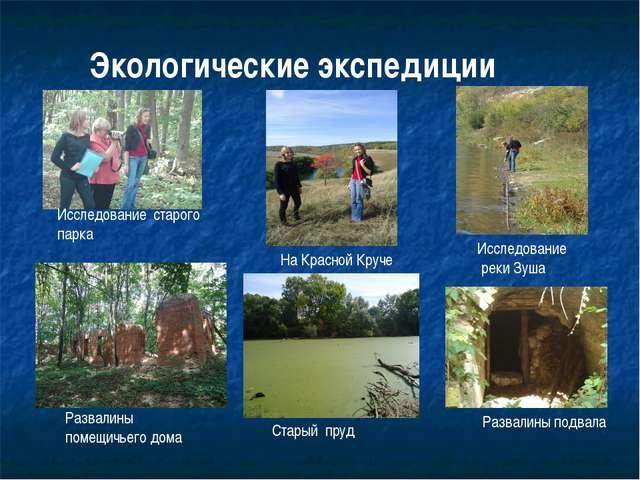 Исследование реки Зуша Исследование старого парка Экологические экспедиции Ра...