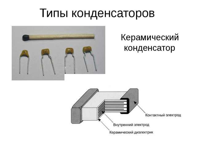 Керамический конденсатор Типы конденсаторов