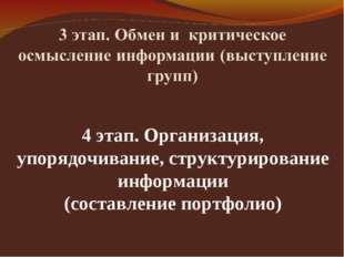 4 этап. Организация, упорядочивание, структурирование информации (составление
