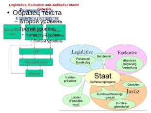 Legislative, Exekutive und Judikative Macht (Gewalt)