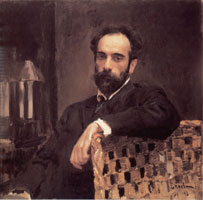 Портрет И. И. Левитана работы В. А. Серова