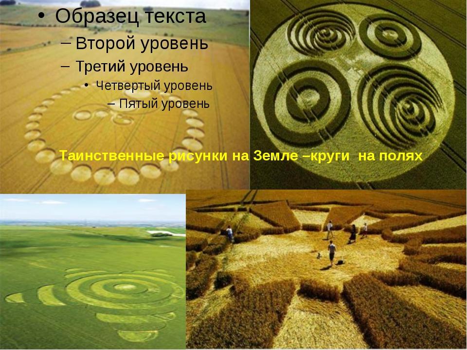 Таинственные рисунки на Земле –круги  на полях