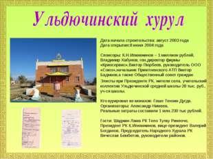 Дата начала строительства: август 2003 года Дата открытия:8 июня 2004 года Сп