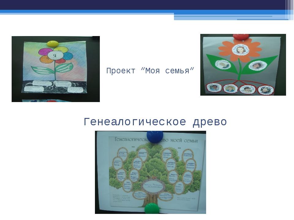 """Проект """"Моя семья"""" Генеалогическое древо"""