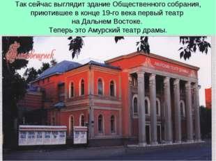 Так сейчас выглядит здание Общественного собрания, приютившее в конце 19-го в