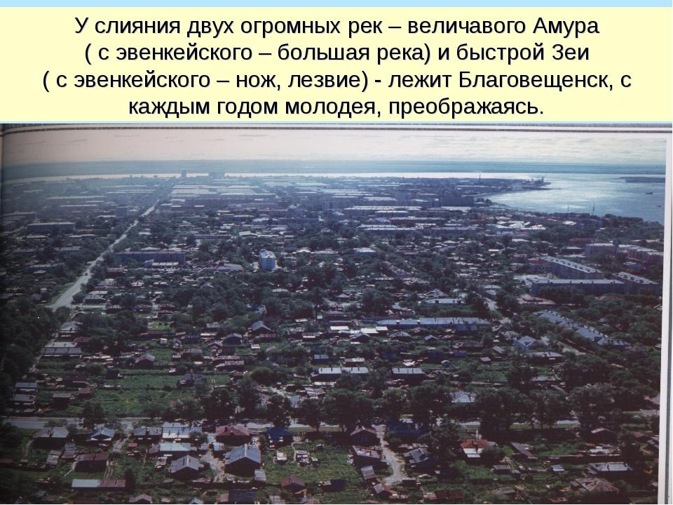 У слияния двух огромных рек – величавого Амура ( с эвенкейского – большая рек...