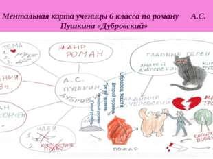 Ментальная карта ученицы 6 класса по роману А.С. Пушкина «Дубровский»