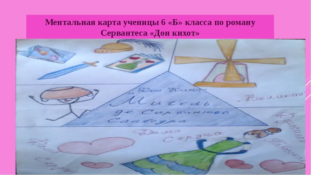 Ментальная карта ученицы 6 «Б» класса по роману Сервантеса «Дон кихот»