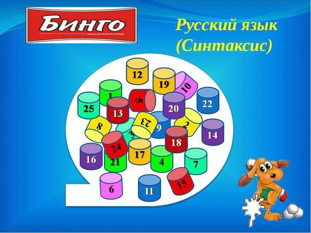 Русский язык (Синтаксис)