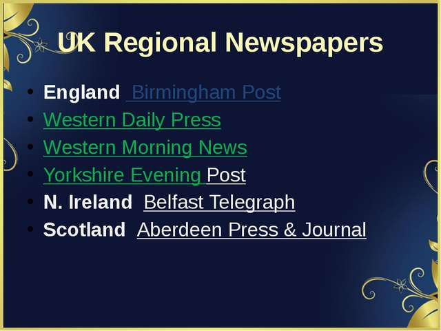 UK Regional Newspapers England  Birmingham Post Western Daily Press Western M...