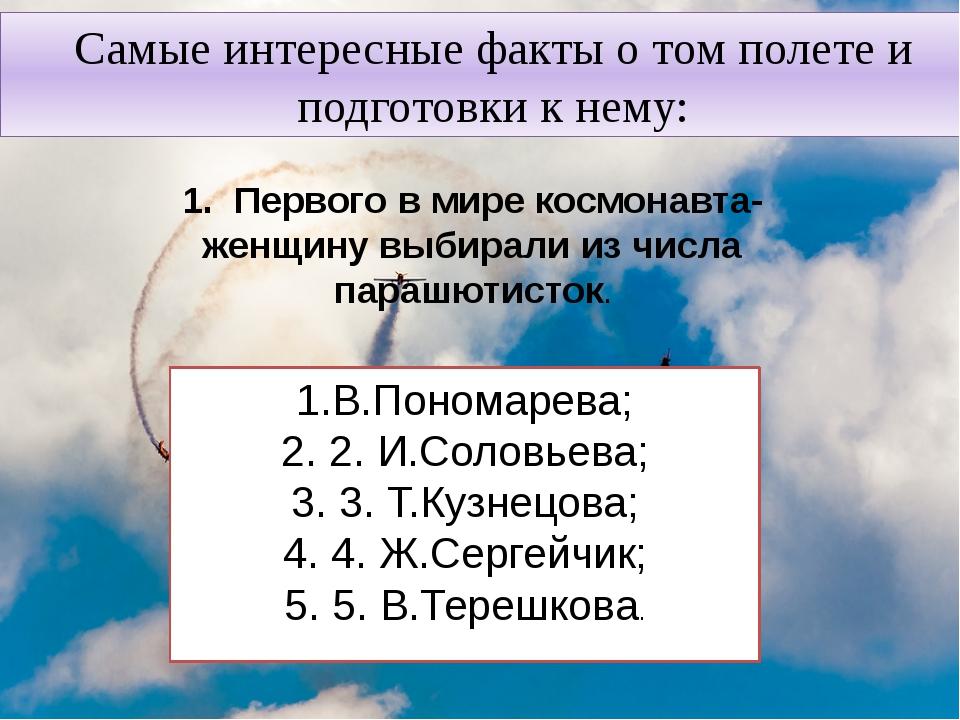 Самые интересные факты о том полете и подготовки к нему: 1. Первого в мире ко...