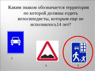 Каким знаком обозначается территория по которой должны ездить велосипедисты,