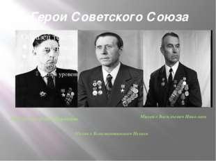 Герои Советского Союза Михаил Егорович Воронцов Михаил Васильевич Николаев Ми