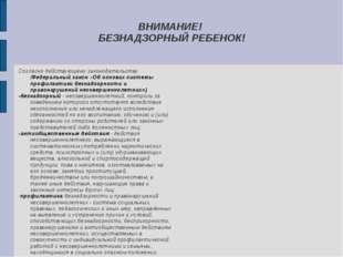 ВНИМАНИЕ! БЕЗНАДЗОРНЫЙ РЕБЕНОК! Согласно действующему законодательству (Федер