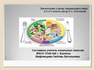 Презентация к уроку окружающего мира в 3 «Г» классе автор О.Т. Поглазова Сост